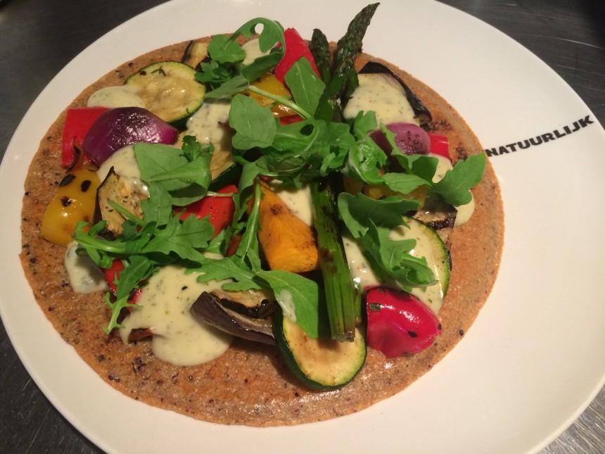 quinoa pizza restaurant natuurlijk egmond vegetarisch recept gezond recept gezond eten biologisch
