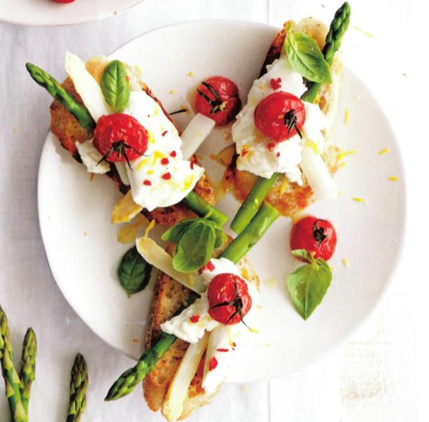 recept eyserhalte puuruiteten asperges vegetarisch bruschetta
