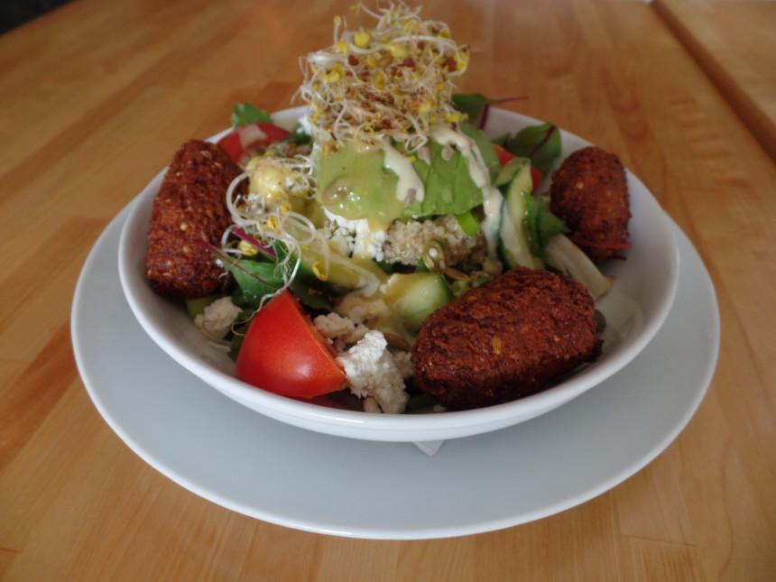recept falafel salade