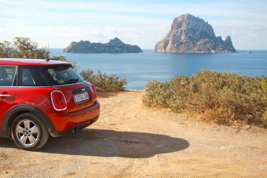 Es Vedra Ibiza Cala d'hort magical magic mini sunnycars