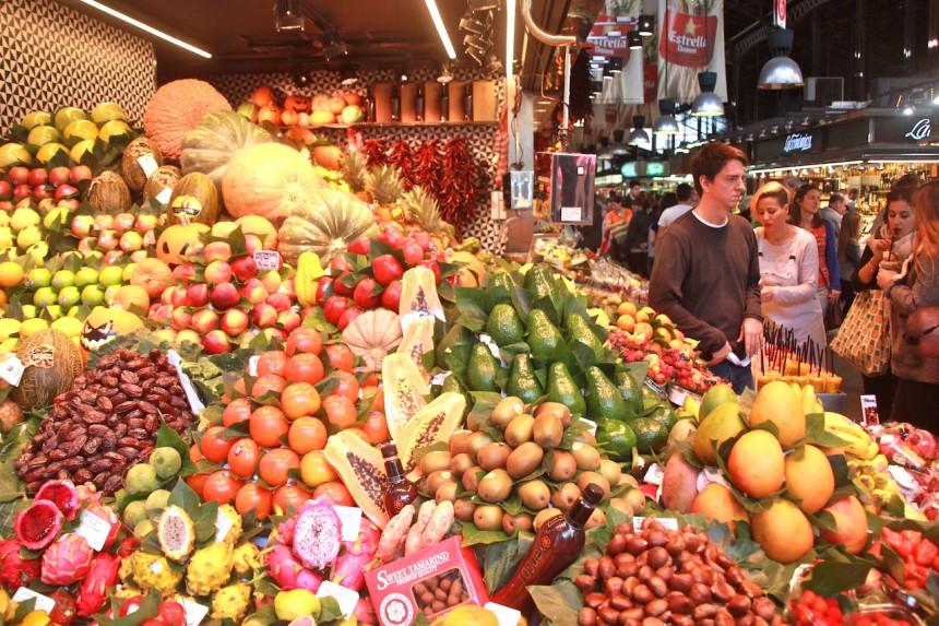 Food markt La Boqueria Barcelona