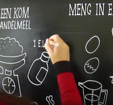 Chalking Wolf ontwerpt jouw originele krijtbordtekening