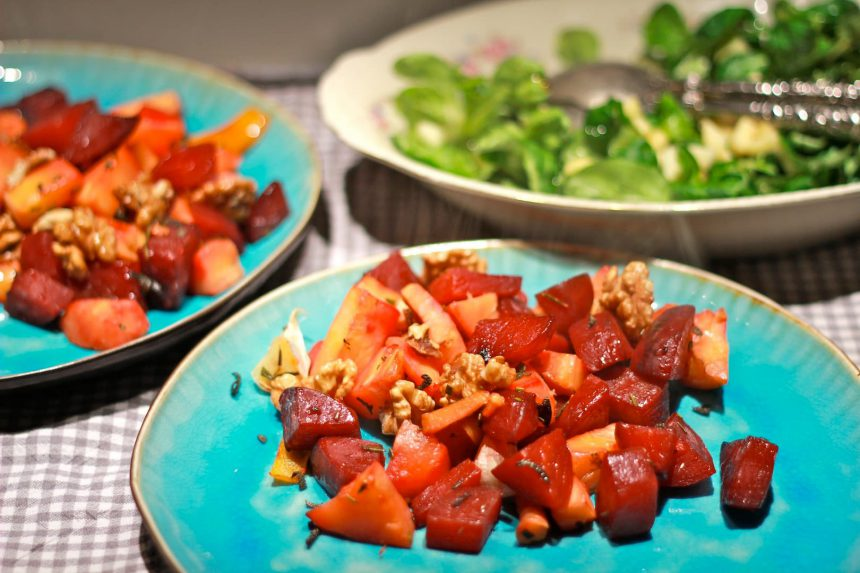 Puurland recept vegetarisch pastinaak en biet uit de oven