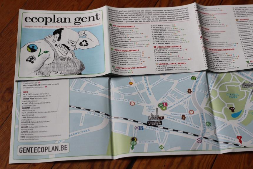 Ecoplan Gent vegetarisch biologisch fairtrade uit eten restaurants vlaanderen