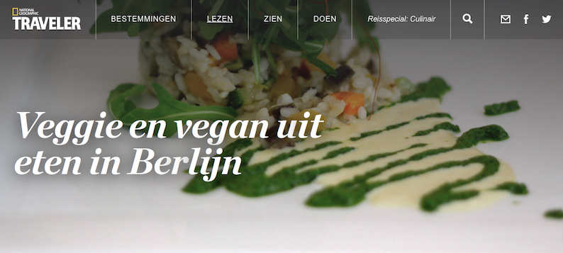 National Geographic Traveler reisspecial culinair special reis eten veggie berlijn tips