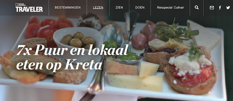 National Geographic Traveler reisspecial culinair Kreta puur lokaal uit eten reistips