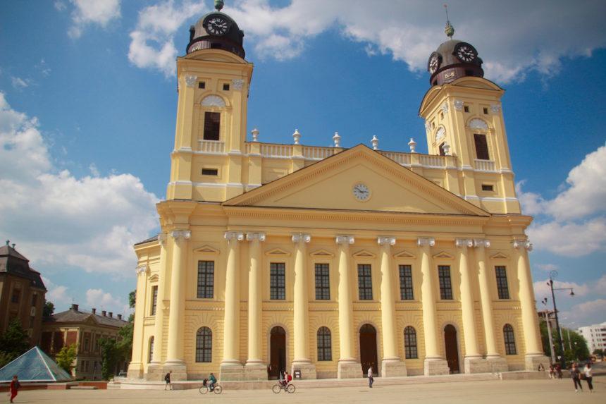 Debrecen Hongarije vakantie stad kerk