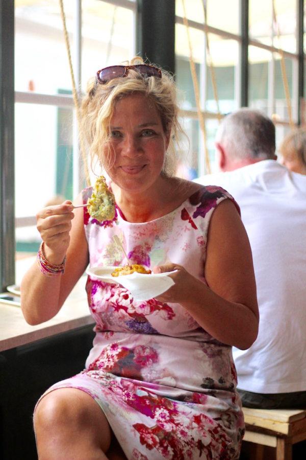 Jeannette van Mullem @ Fish market Mahón Menorca tips restaurant mercat des pescados