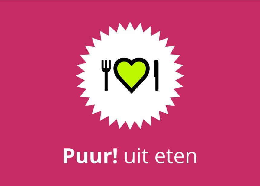 Logo Puur! uit eten stage communicatie puur biologisch uit eten duurzaam horeca marketing social media promotie