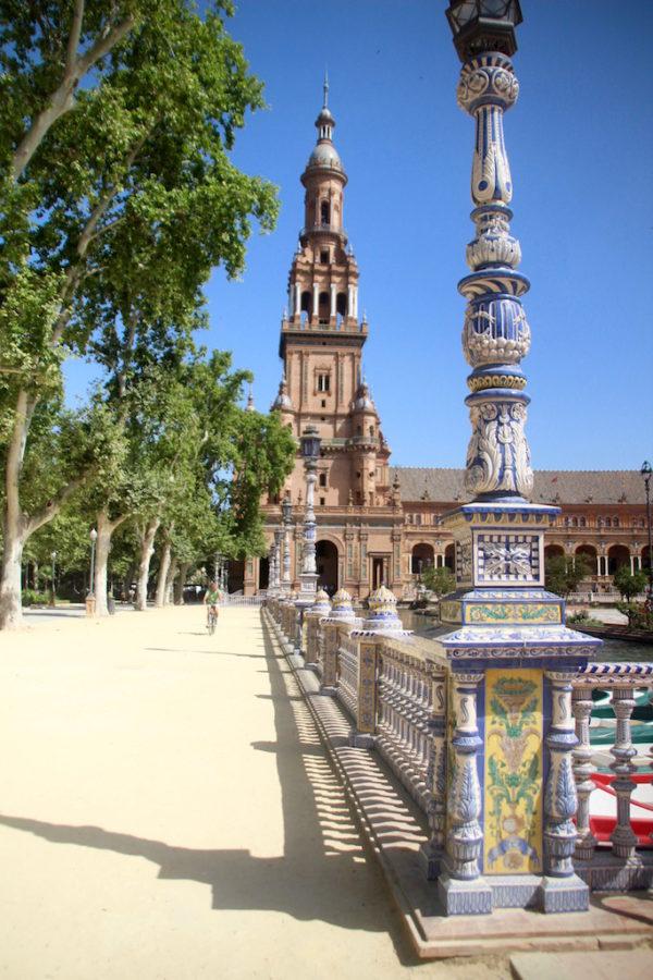 Plaza Espanya Sevilla Seville Andalucia spanje