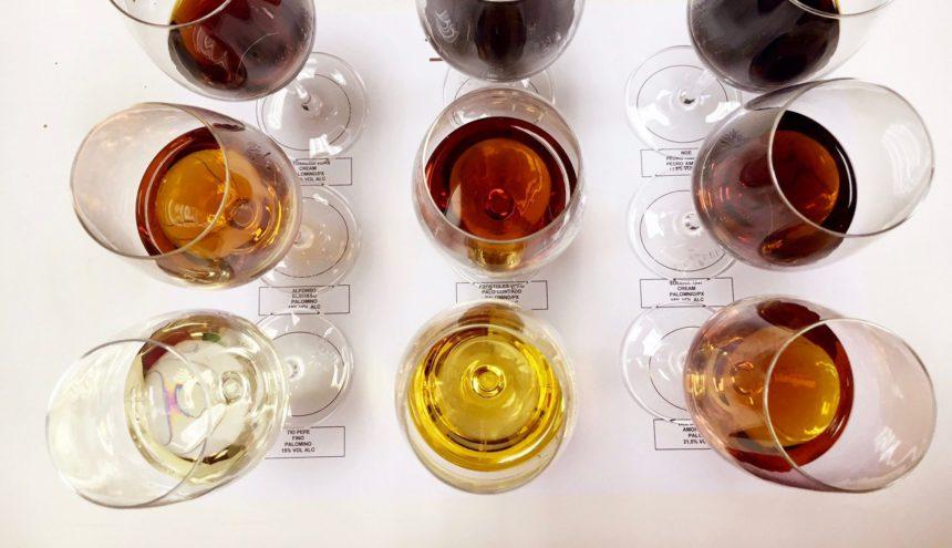 Soorten sherry Jerez de la Frontera xeres jerez