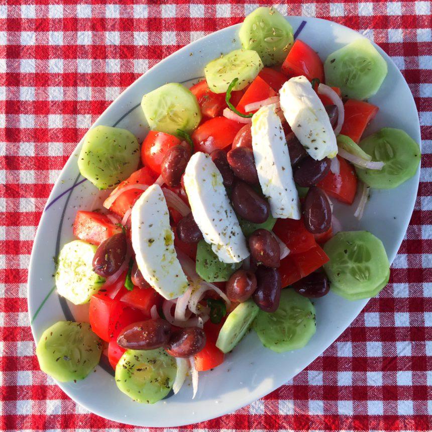 messolonghi griekse salade west griekenland