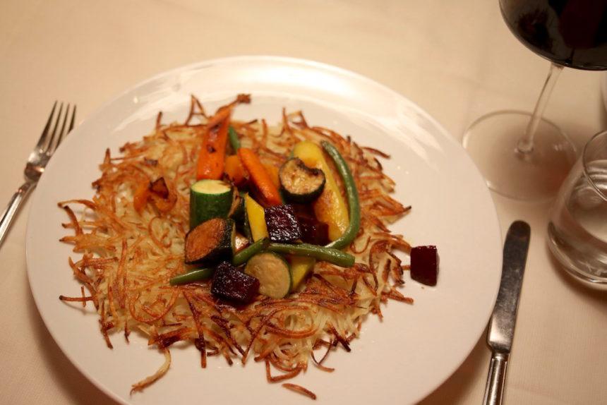 Restaurant Fink Brixen Bressanone Zuid-Tirol vega vegetarisch uit eten aardappelrösti groente