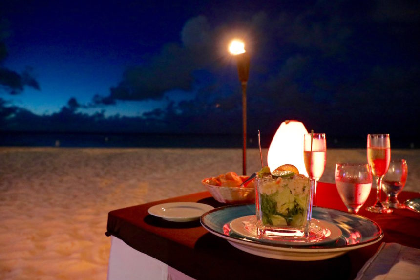 Restaurant Passions on the Beach Aruba Eagle Beach restaurants Aruba puuruiteten reisblog foodblog foodtravel Caribean