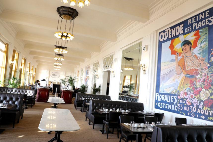 Brasserie Albert Thermae Palace hotel oostende puuruiteten