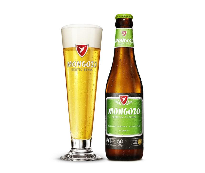 Mongozo Premium Pilsener biologisch fairtrade glutenvrij bier