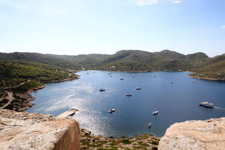 Eiland Cabrera es castell mar cabrera mallorca boot