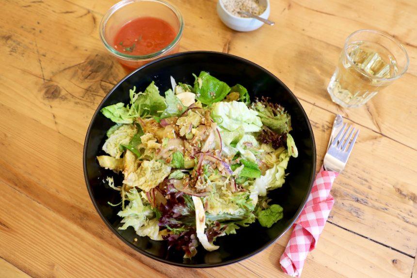 Lekker en gezond lunchen Sladerij Hasselt vegetarisch saladebar