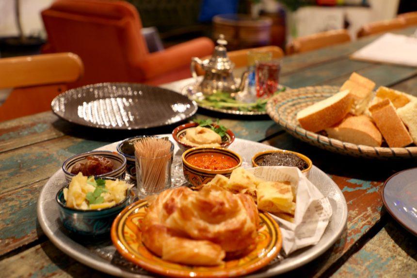 Vegetarische mezze bij Marokkaans restaurant Tajine in Hasselt
