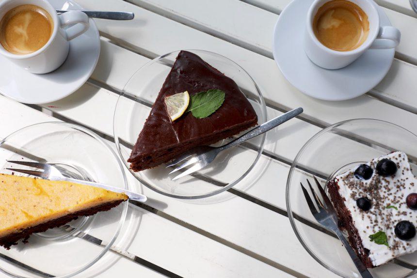 Vegan taart bij Bistro Rozmaryny Olomouc
