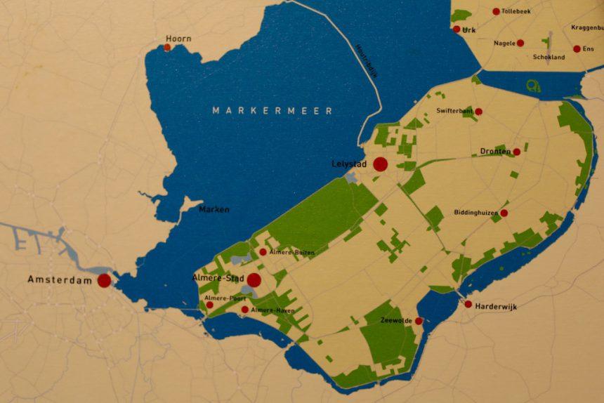 Flevoland kaart museum batavialand lelystad