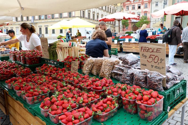 Groentemarkt Brno tsjechie