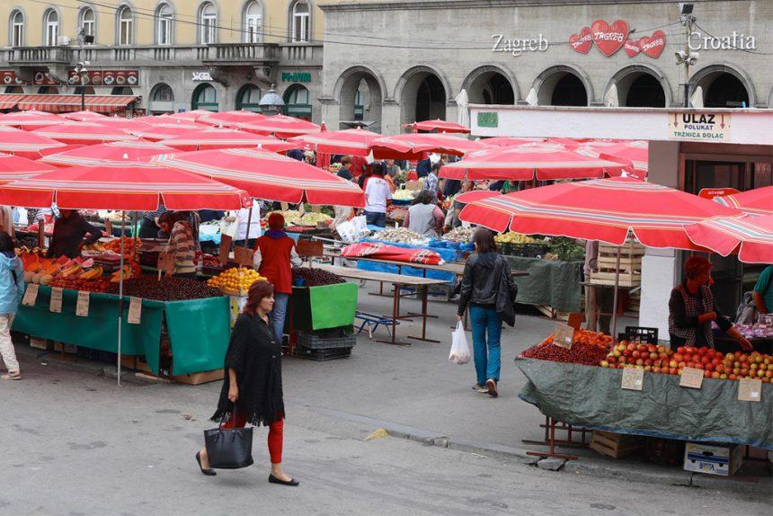 Zagreb markt Dolac