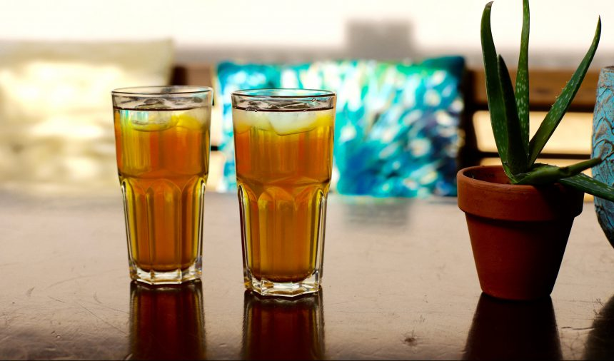 Groene ijsthee zonder suiker zelf maken recept bhalu nijmegen puuruiteten hoe maak je ijsthee