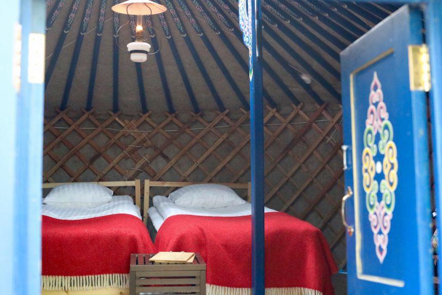 Slapen in een yurt in Zweden