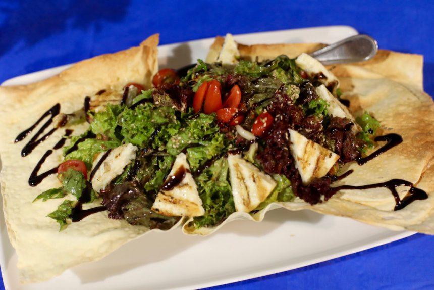 Visrestaurant Araxovoli Kamares Sifnos griekse salade