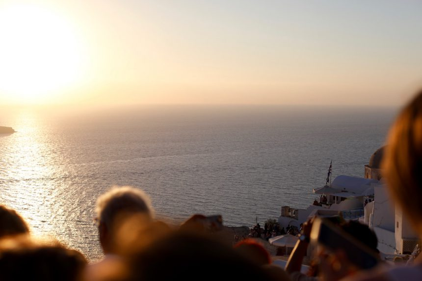 Zonsondergang in Oia Santorini