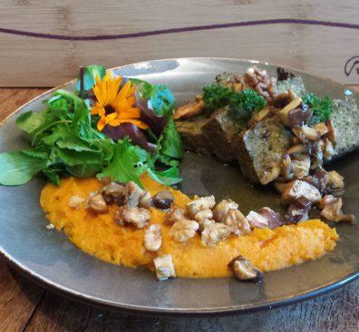 Vegan paté paddenstoelen