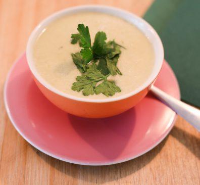 Vegan bloemkoolsoep en tóch romig