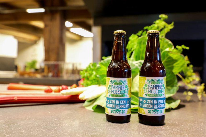 Achterhoeks bier Zin in een groen blaadje