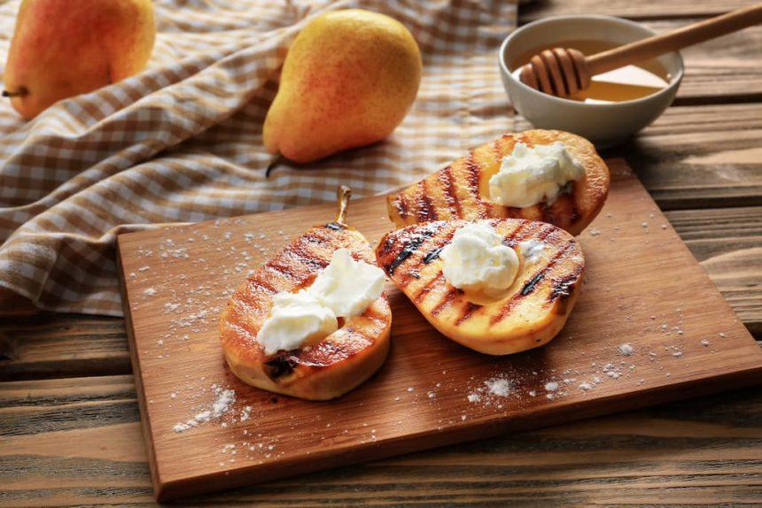 Peer fruit op de BBQ veggipedia barbecue tips recepten
