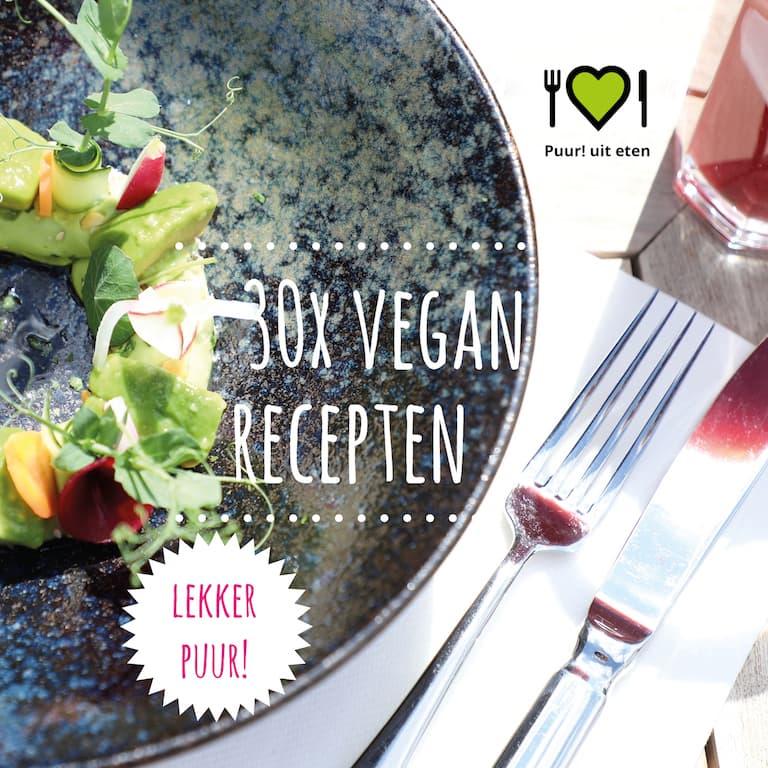 Vegan recepten e-book Puur! uit eten