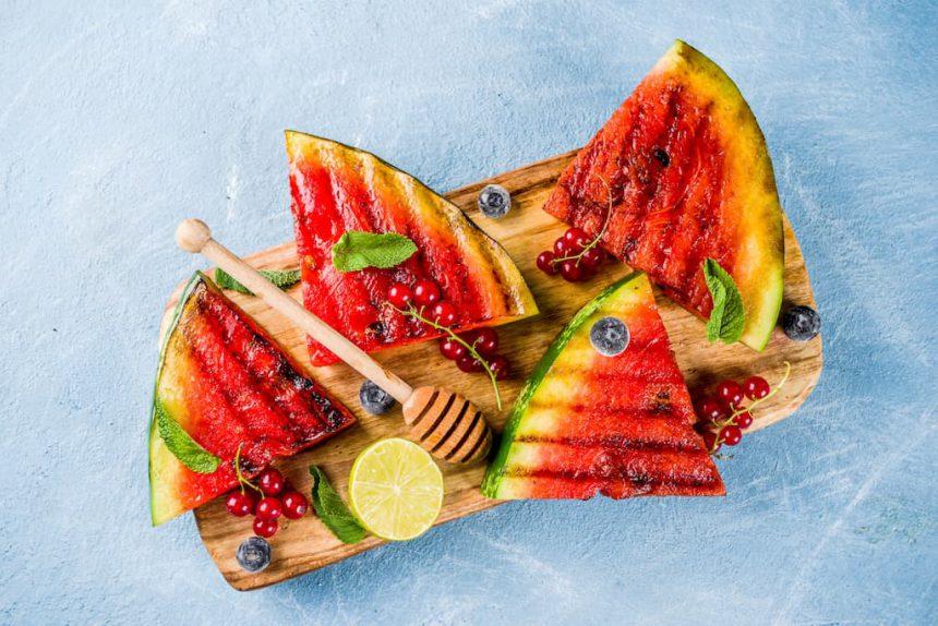 Watermeloen fruit op de BBQ veggipedia barbecue tips recepten