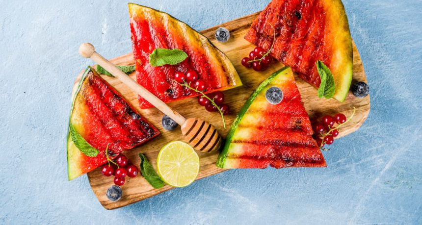 Watermeloen fruit op de BBQ veggipedia barbecue tips recepten