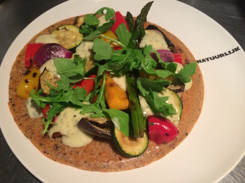 Quinoa pizza vegetarisch