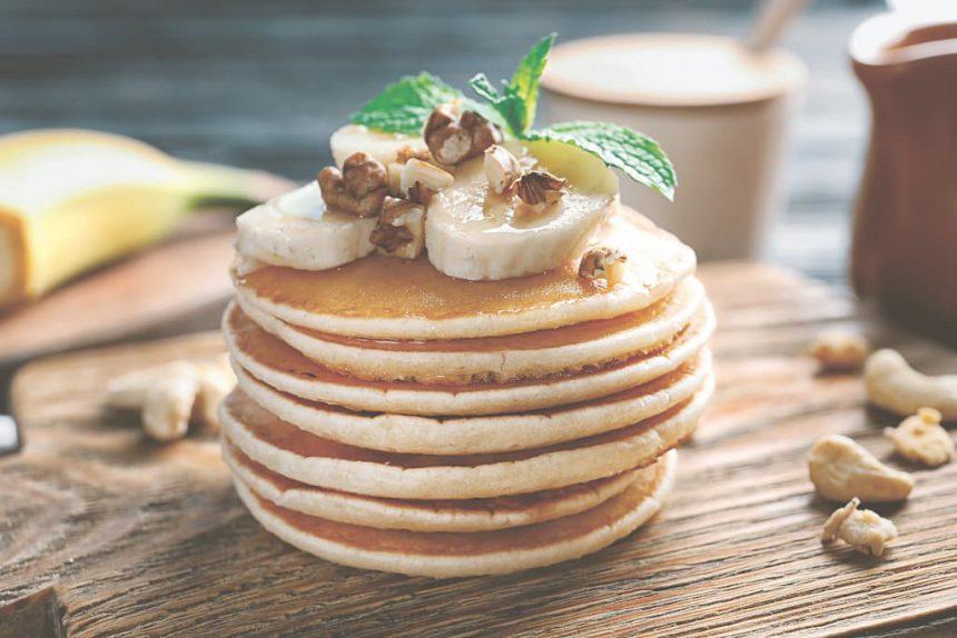vegan ontbijt recepten Bananen pannenkoekjes ontbijt recepten kookboek Banaan